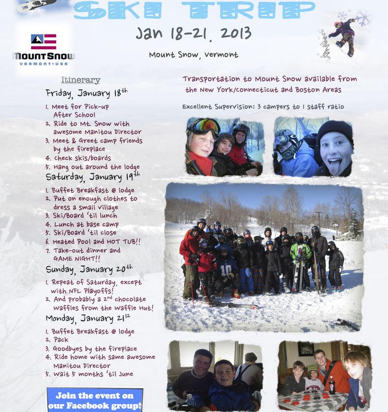 Camp Manitou Ski Trip