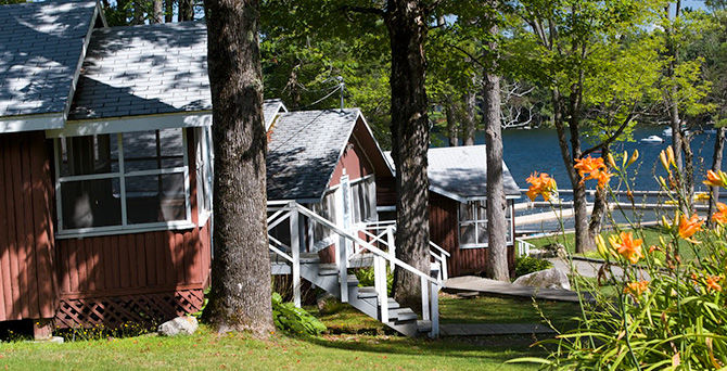 Comfortable cabins at Camp Manitou