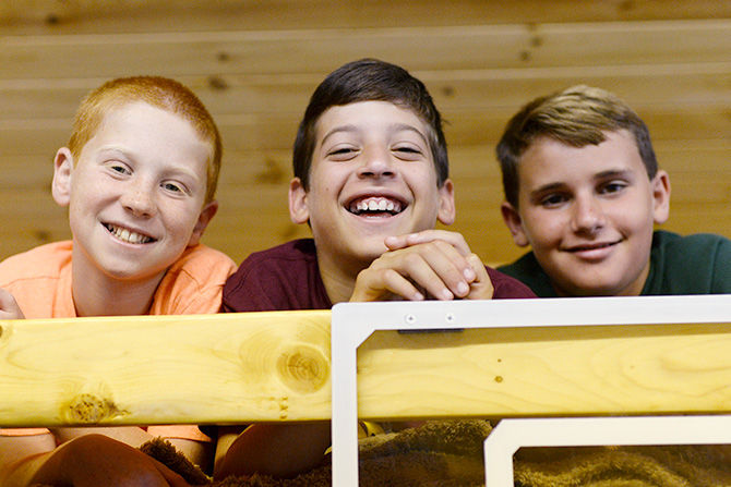 On Visiting Day you can tour your son's cabin and meet his bunkmates.