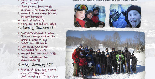 Camp Manitou Ski Trip in 5 Weeks!