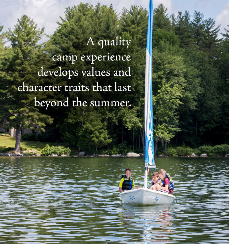A quality camp experience develops values and character traits that last beyond the summer.